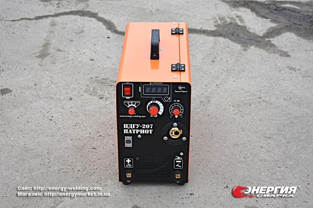 12.Сварочный инвертор полуавтомат ПДГУ-207 Патриот под аргон